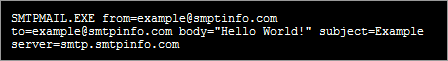 SMTP Email command line. Attachments/HTML/Txt