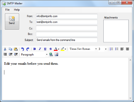 SMTP Mailer PRO full screenshot