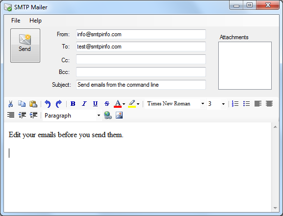 Send E-Mail from the Command Line or Batch File